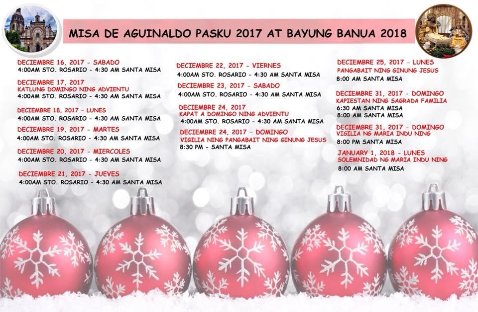 Misa de Aguinaldo 2017 at Bayung Banua 2018