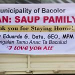 "Oplan: Saup Pamilya ( First Wave) Thank You for Staying Home!""Dangalan Tamu na Anac ta Baculud"" I Love You"