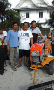 Awarding of Hand Tractors, Rice Threshers and ShallowTube Wells to Farmers of Bacolor