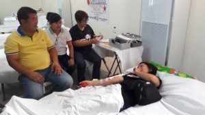 BLOOD LETTING - at the Evacuation Center