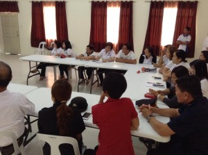 Department Heads Meeting at Bacolor Evacuation Center