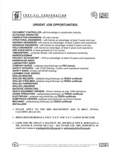 Urgent Jobs Opportunities
