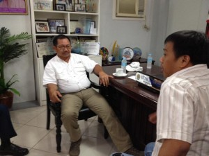 Meeting with Secretary Manny Pinon