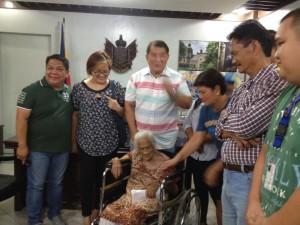 One time Cash Grant of 100000 pesos to Centenarian Senior Citizen