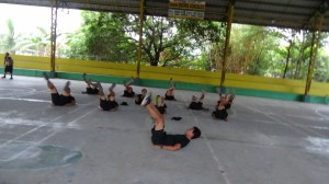 Daily Physical Training of Bacolor Emergency Support Team (Team alpha and Bravo)