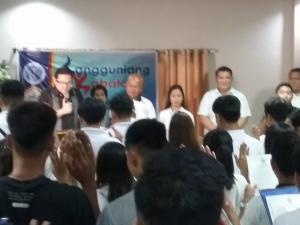 Oathtaking of Sangguniang Kabataan Chairman and Kagawads with Senator Bam Aquino.