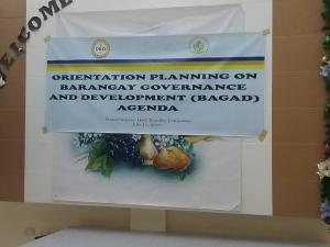 Orientation Planning of Newly Elected Barangay Officials