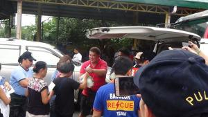 Relief Distribution for the Evacuees at Municipal Evacuation Center Bacolor, Pampanga
