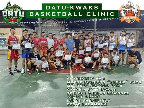 DATU-KWAKS BASKETBALL CLINIC AUGUST 3 - OCTOBER 5, 2019