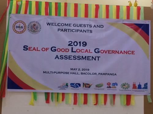 Regional Assessment Seal of Good Local Governance (SGLG)
