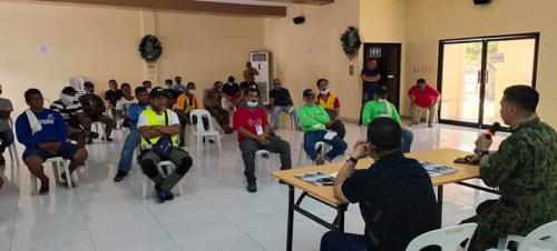 Meeting with all Chief Barangay of Bacolor with PNP Chief. Louie Gonzaga and Mayor Eduardo Diman Datu March 19, 2020